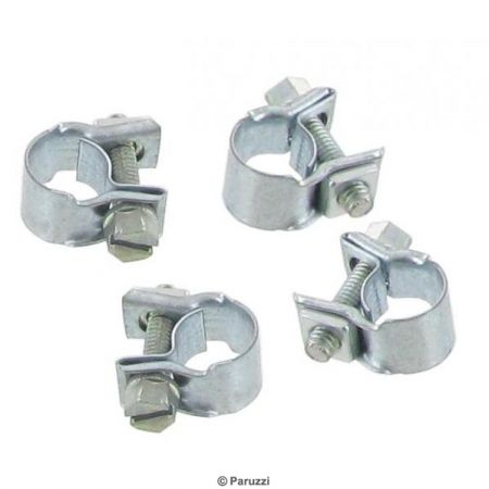 Mini slangklemmen (4 stuks) Klembereik: 9 mm Breedte: 9 mm Wrenchmaat: 6 mm