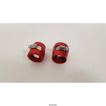Heavy Duty slangklemmen rood (per paar) maximum slang buitendiameter 23.00 mm